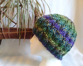 Cable Beanie. Knit Hat. Green. Purple. Blue. Gold. Taupe. Royal Vibrant Colors. Beanies for Women. Gifts for Her. Naturally striping.