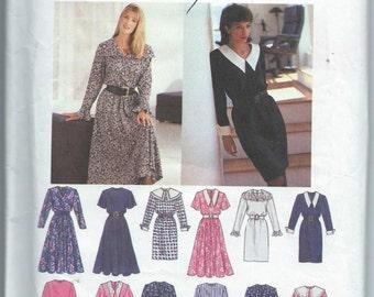 Simplicity 8726 Misses'/Misses' Petite Dress with Slim or Flared Skirt - Size 8-10-12-14 - Uncut Vintage Pattern