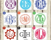 Small Monogram Sticker - Monogram Decal - Personalized Monogram/Initials - Circle or Script Monogram - Car Decal, Phone Sticker