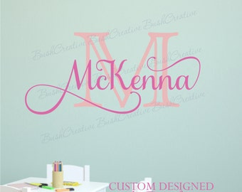 Wall Decal Name Decal Girl Name Decal Little Girl Name Wall Decal Nursery Name Decal Monogram Wall Decal Name Decals Nursery Personalized 96