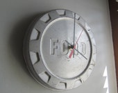 1961-64 Vintage Ford Truck Hubcap Clock no.2391