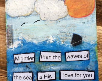 Original art Mixed Media Painting - subject: God's Love