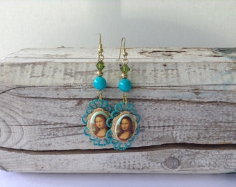 Turquoise Mona Lisa Earrings