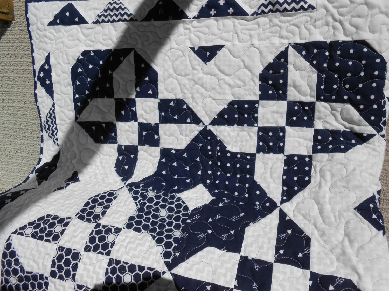 Navy Blue Amp White Quilt Home Made Quilt Handmade Gift