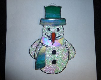 stained glass  snowman