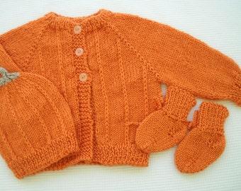Newborn Pumpkin Sweater Set