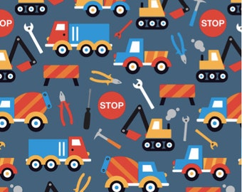 Truck quilt etsy for Little boy fabric