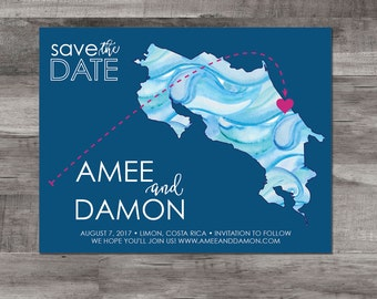 Destination wedding save the date - costa rica save the date