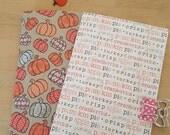 Thanksgiving/Autumn/Fall Standard Travelers notebook inserts; midori inserts