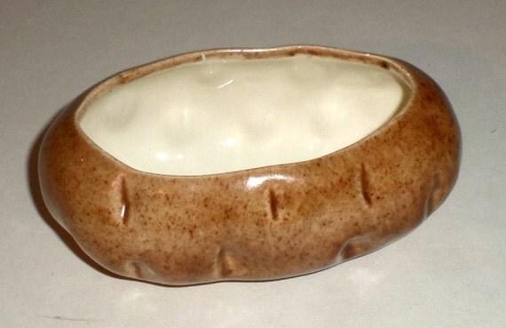 Vintage Potato Baker Ceramic Twice Baked Potato By