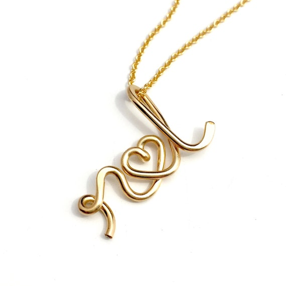 The Original Two Lovers-14K Personalized Initials Necklace, valentine's day, couples necklace, wedding, bridal shower, anniversary, bride,