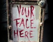5 x 7 Picture Frame: Flesh Eyes and Teeth - Dead Girl Massacre Decay - Limited Edition - Horror