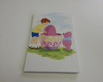 Up cycled Note Pad Disney Winnie the Pooh Easter