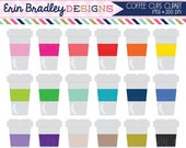 60% OFF SALE Coffee Clip Art Graphics Personal & Commercial Use Coffee Cup Clipart Digital Files
