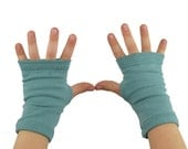 Toddler Arm Warmers in Aquamarine Dream - Fingerless Gloves
