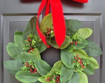 FALL WREATH SALE Add a Bow, Wreath Decoration, Bow Added to Wreath, Christmas Ribbon, Many Colors Available