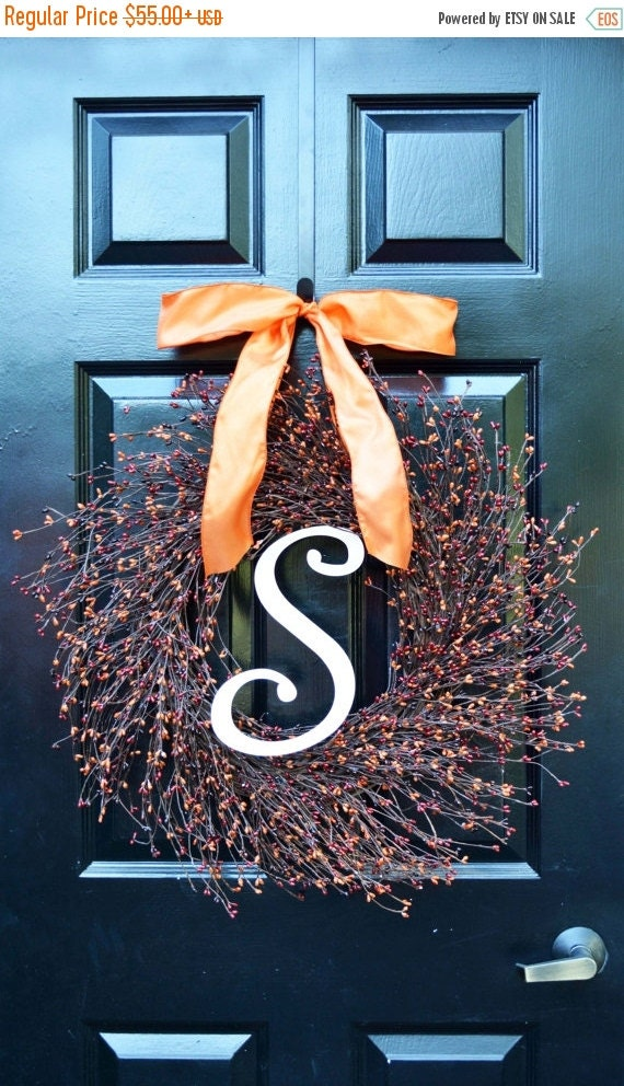 Pip Berry Fall Wreath- Autumn Berry Wreath- Ready to Ship- Fall Decorations- Front Door Wreath- Fall Wreaths- Fall Sunset Pip Berries- Aut