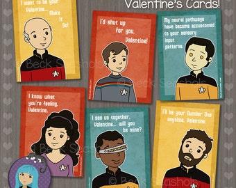 Printable Star Trek Valentineu0027s Day Card