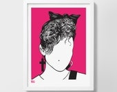 Madonna Screen Print, Madonna Wall Art, Madonna Wall Decor, Madonna Merchandise, Madonna Print, Music Icon Screen Print, Music Wall Art