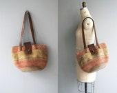 Trikkala sisal tote | vintage sisal bag | woven sisal market bag