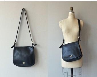 25% OFF.... Coach Stewardess bag | vintage large Coach shoulder bag | black Coach purse