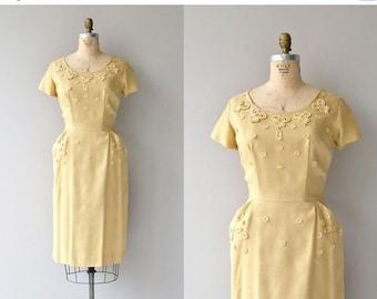 25% OFF.... Honeyed Butter dress | vintage 1950s dress | yellow 50s dress