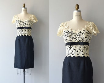 Ondine dress | vintage 1950s dress | lace 50s cocktail dress