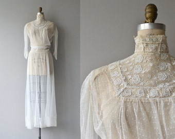 Summer House dress | antique 1910s dress | lace Edwardian dress
