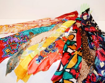 Vintage Casual to Royal Scarf Collection of Ten
