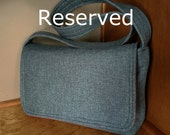 Reserved for Laura J. - No-Spill Messenger Bag, Grey with Red Lining