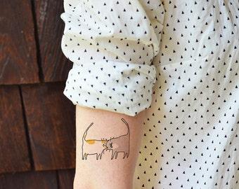 Cat Tattoo - Headbutt Cats - Temporary Tattoo - Cat Mom Gift
