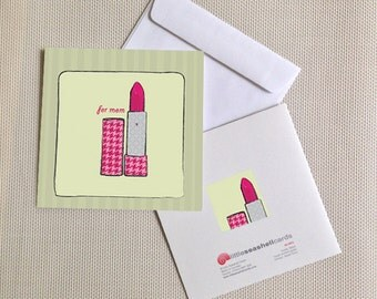 Mother's Day, Lipstick, Sale, Mothers Day Card, Mom, Card, Birthday Card, for Mom