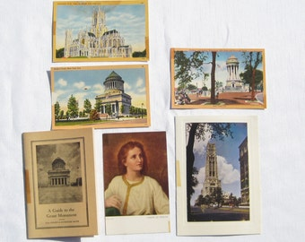 Vintage Postcards and Brochure Antique Postcards New York Postcards Vintage Post Cards Cathedral Postcards Postcards for Decoupage