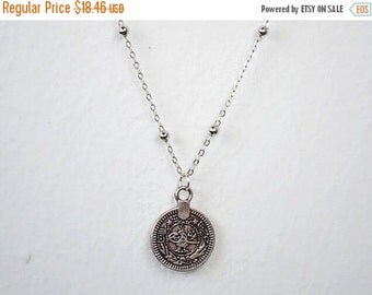 CLEARANCE SALE Boho Necklace Kuchi Coin Bohemian Hipster Coin Necklace