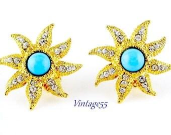 Earrings Turquoise Rhinestone Graziano