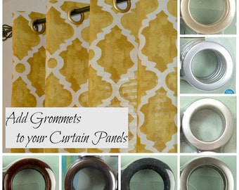 Add Grommets to your Curtain Panels from Bee Yourself Designs