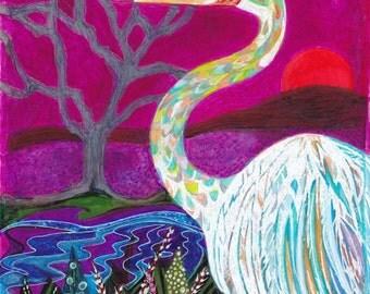 Crane In A Magical World