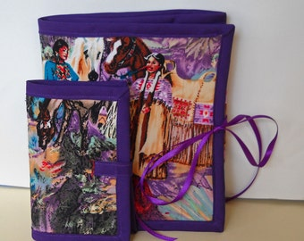 Purple Canyon Sewing Caddy Needle Book Organizer Set