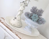 Vintage Cast Iron Urn * Shabby Chic Cottage * Jeanne d'Arc * Antique French Nordic Style * Petite