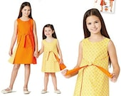 GIRL DRESS PATTERN / Reversible Wrap Dress / Vintage Style / Sizes 3 to 6 or 7 to 14 / Summer Clothes