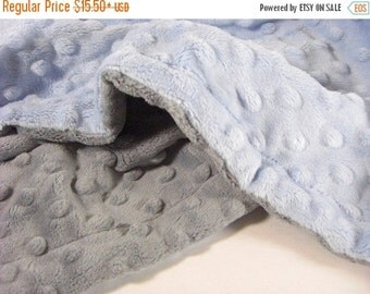 ON SALE Custom Minky Baby Blanket Personalized - for baby boy or girl