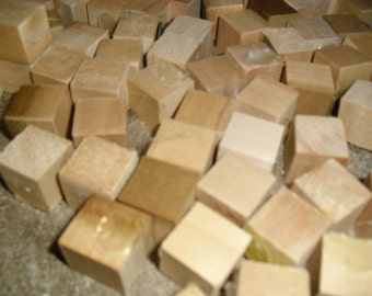 Hand Cut Wood Cubes Three Quarter Inch Wood Cubes Craft Supplies Wedding Supplies