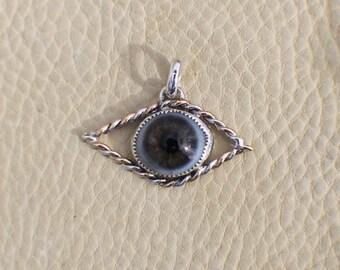Sterling Silver/14k Gold-Fill Prosthetic Eyeball Pendant