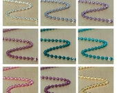 5 High Quality 2.4mm Colored Metal Ball Chain 24 inch Necklaces with Connectors. Select your Colors.
