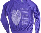 Womens ANATOMICAL HEART Tri-Blend Pullover - american apparel S M L (6 Color Options)
