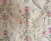 1950s Queen Duvet Cover - vintage fine linen - floral vintage duvet - chintz duvet cover - pink rose duvet cover - vintage decor - bedding