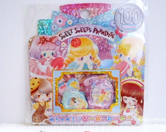 Kamio Japan Sticker Flakes -Sweet Sweets Paradise - 50 Pieces (46384)