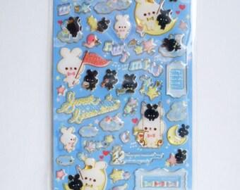Q-Lia Kawaii Japanese Stickers - Sweet Bitter Time Blue - (91311)