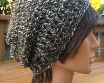 Brown Crocheted Slouch Hat 28/15