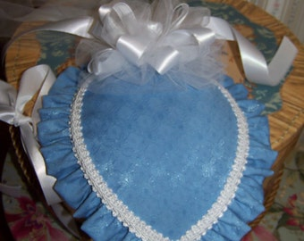 Civil War Hat and Reticule,Victorian Ladies Hat, Blue teardrop hat with white lace ruffle and white satin ribbon and braid, Ballgown
